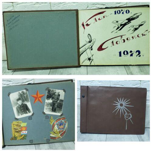 military photo album USSR Soviet Army Demobilization soldier guard album