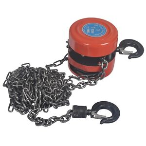 Hug Flight 1 Ton Chain Block Hoist Heavy Duty Tackle Engine Lifting Pulley Winch