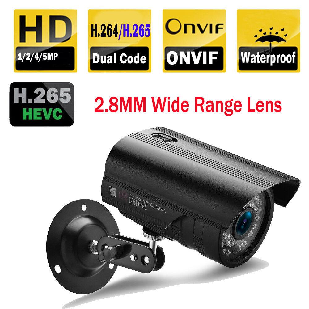 Details about 1/1 3/2/4//5MP 2 8MM Wide Lens 36LED CCTV Outdoor IP Netork  Camera ONVIF XMEYE