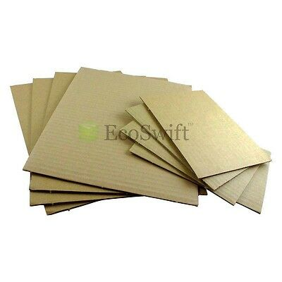 200 8.5x11 Corrugated Cardboard Pads Inserts Sheet 32 Ect 18 Thick 8 12 X 11