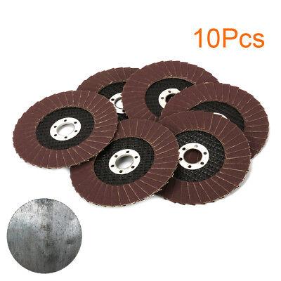 10pcs 4 Sanding Flap Discs Grinding Wheel For Angle Grinder 80 120 180 240 320