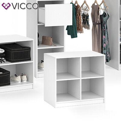Vicco Kommode groß VISIT - viergeteilt Sideboard Regal Schlafzimmer Umkleide