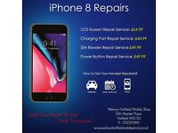 iPhone 8/7 Plus/7/ 6s/6 Plus/5s/5c/5/4s LCD Glass Screen Repair Service Welwyn Garden City Hatfield