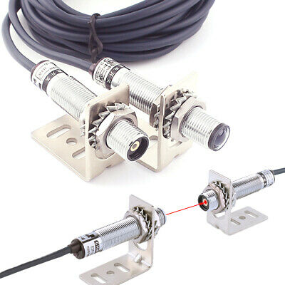 M12 Npn Laser Sensor Photoelectric Switch Infrared Visible Light Sensor 10-20m