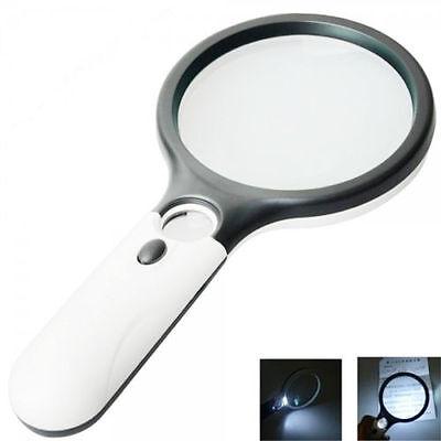 10 20 Fach 3 LED Licht Leselupe Lampe Juwelierlupe Handlupe Vergrößerungsglas