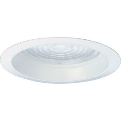Progress Lighting 6 in. Pro-Optic Firebox White Recessed Regressed Fresnel Trim