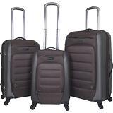 Travelers Club Luggage Ford Flex 3PC Exp. Hybrid Luggage Set NEW