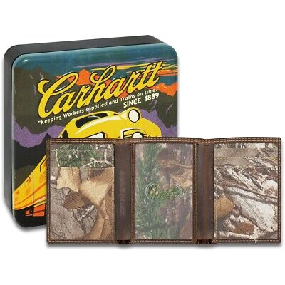 Carhartt Mens & Womens/Ladies Trifold Realtree Leather Wallet