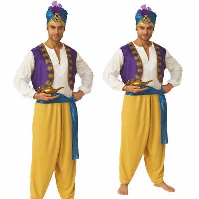 Herren Sultan Aladdin Kostüm Erwachsene Arabisch Nights Genie - Genie Kostüm Erwachsene