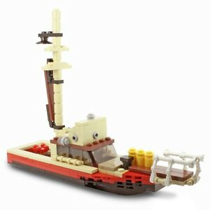 New-LEGO-Custom-Jaws-inspired-Orca-Boat-with-Play-Features-COMPLETE-KIT
