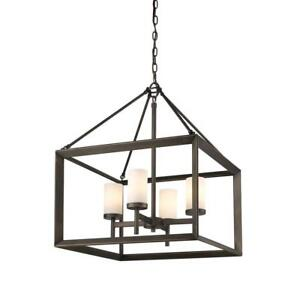 Golden Lighting 2073-4 GMT Smyth 4 Light Chandelier NEW