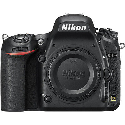 Nikon D750 DSLR 24.3MP HD 1080p FX-Format Digital SLR Camera (Body)