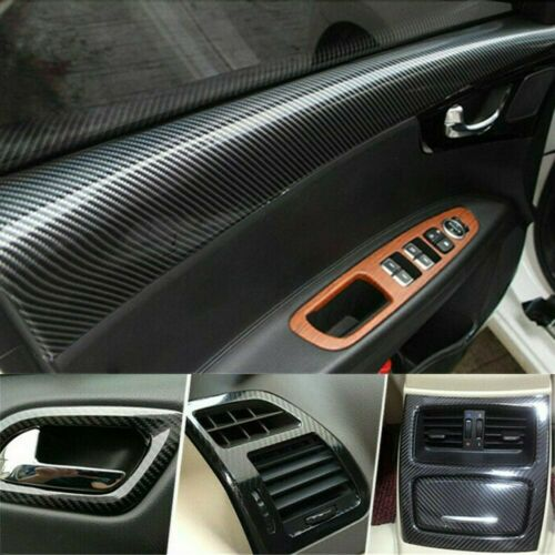 Car Parts - Parts Accessories Black Glossy Vinyl Film Car Interior Wrap Stickers Bubble Free