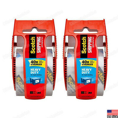 3m Scotch Heavy Duty Shipping Packaging Tape 142 1 Core1.88 X 22.2yd 2 Rolls