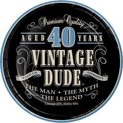 8 x Vintage Dude 40th 7