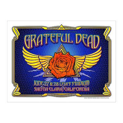 Grateful Dead Fare Thee Well Poster Levi Stadium Santa Clara, CA #1000/1000!!!