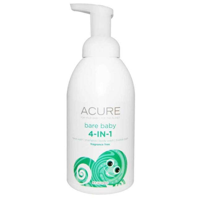 Acure Organic Fragrance Free Bare Baby 4-in-1 Wash (473ml) | BRAND NEW