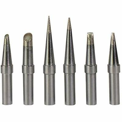 6 Pcsset Replacement Et Soldering Iron Tips Weller We1010na Wesd51 Wes5051