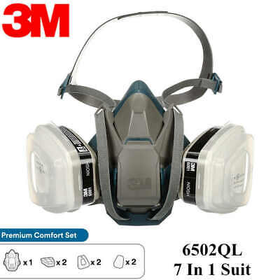3m 7 In 1 6503ql Half Face Reusable Respirator For Spraying Painting Large