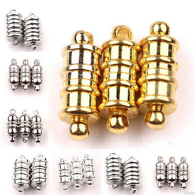 Wholesale 5/10Sets Oval Strong Magnetic Metal Clasps Hooks Jewelry Findings