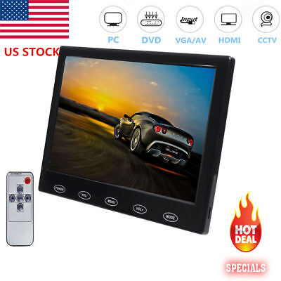 "US- Mini 7"" LCD CCTV Monitor HD PC Screen HDMI VGA AV RCA 1080p for Raspberry PI"