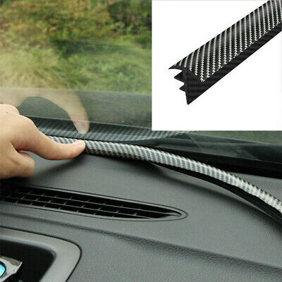 1.6M Carbon Fiber Car Dashboard Gap Filling Sealing Strip Rubber Car Accessories