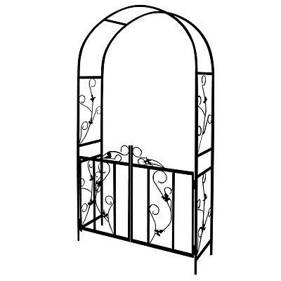Metal Rose Garden Pergola Climbing Plant Patio Entrance Romantic Decor Arch Gate
