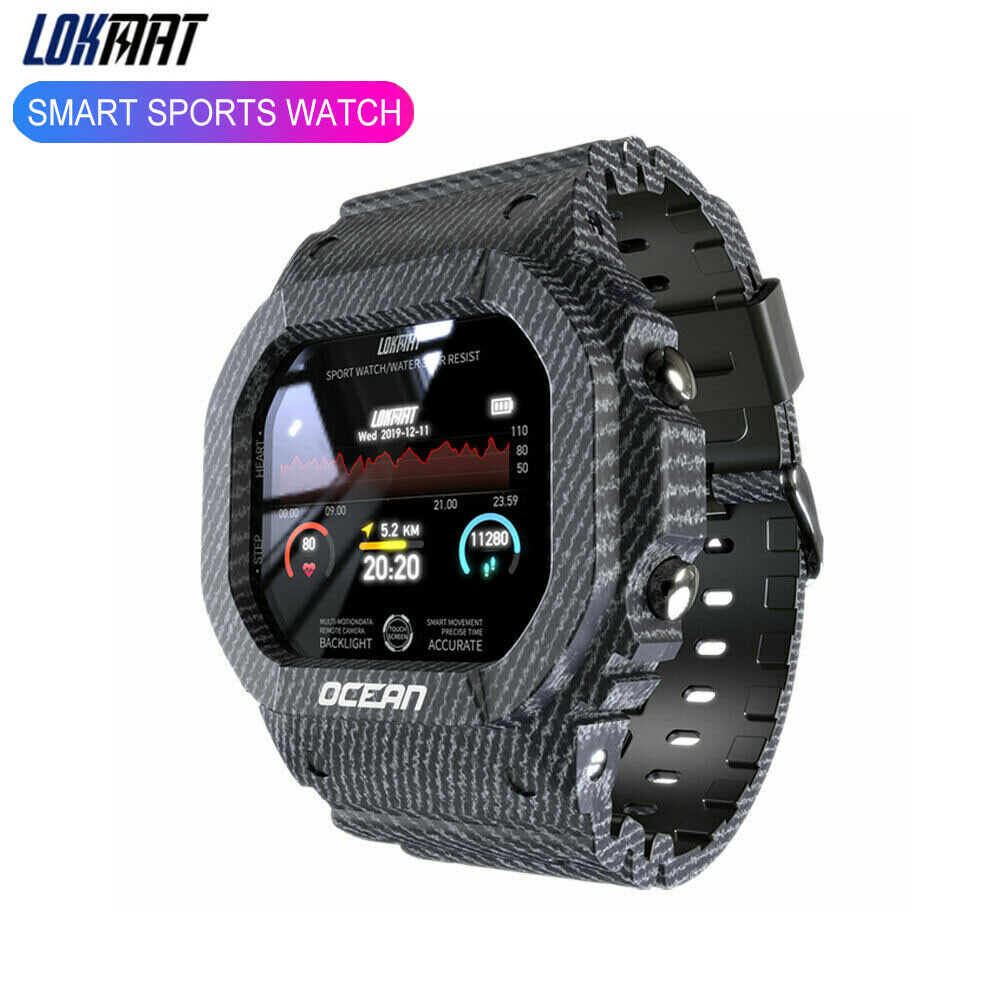 Lokmat Ocean Smart Watch Unisex Sports Tracker Blood Pressur