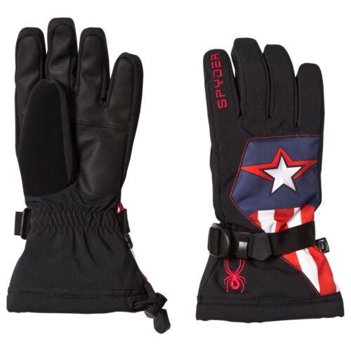 Spyder Marvel Overweb Gloves,Ski Snowboarding Gloves,Size L,Black/Captain,NWT