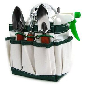 Mini gardening tools set kit box plant trimmer gift cute for Small garden tools set of 6