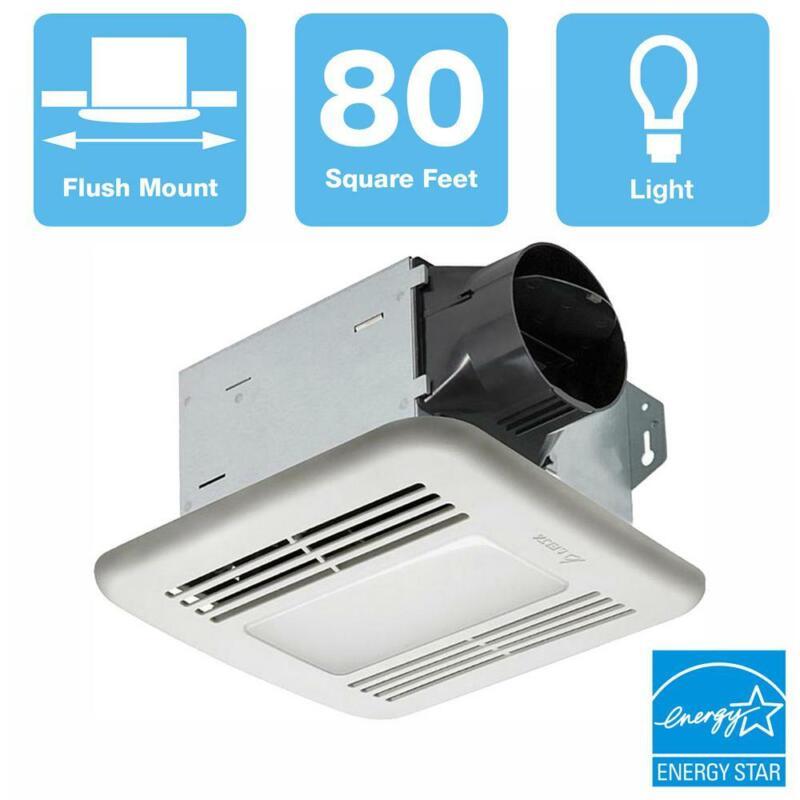 Delta Breez Ceiling Bathroom Exhaust Fan 80 CFM Dimmable LED