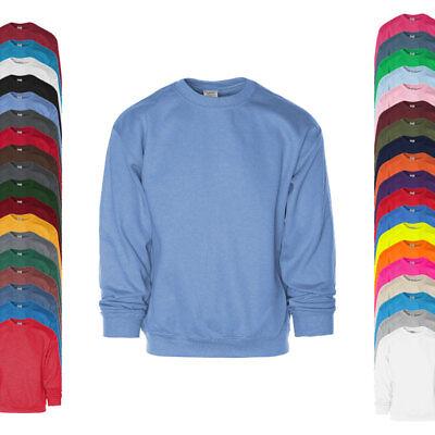 Gildan Herren Pullover Sweatshirt HEAVY BLEND CREWNECK Rundhals Neu G18000 - Erwachsene Heavy Blend Crew Neck