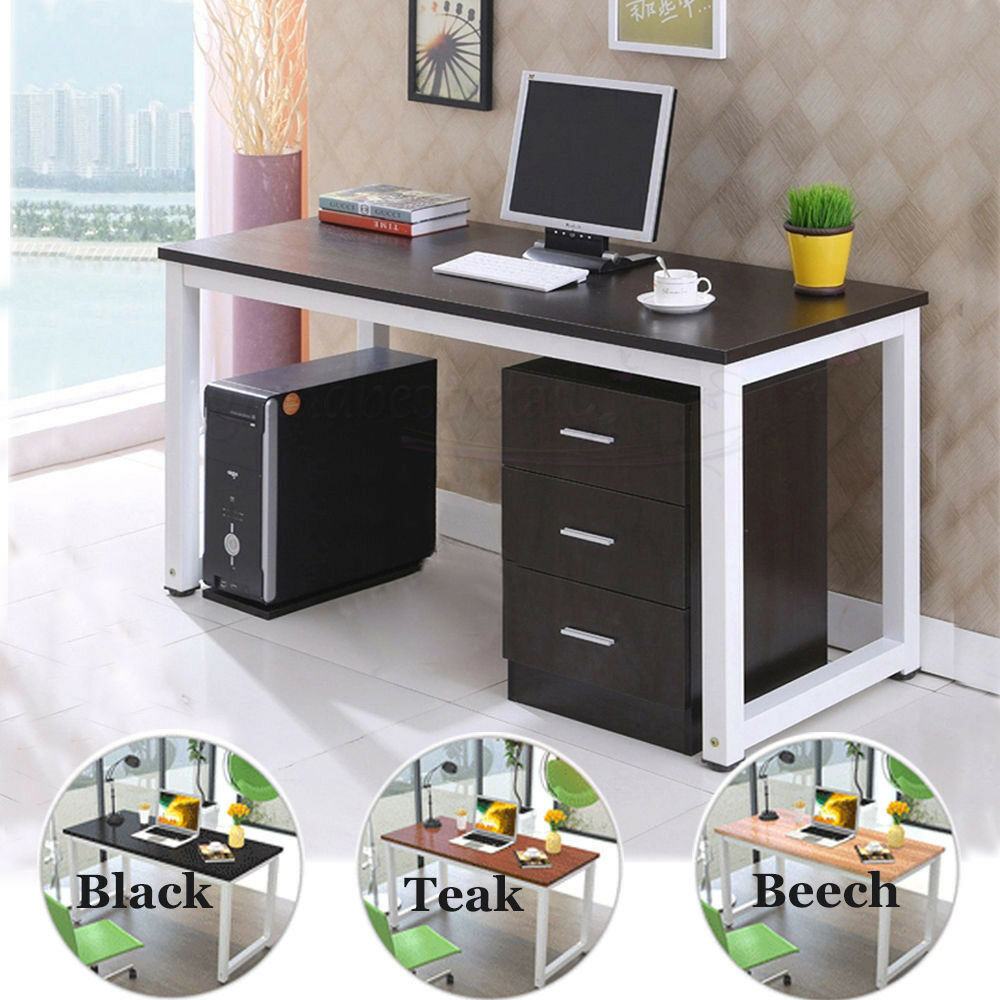 Wooden Computer MDF Desk Home Office Study Table