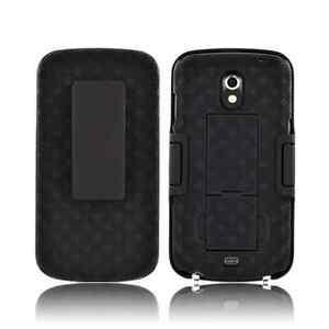 Samsung Galaxy Nexus i515 i9250 Dual Clip Shell Holster Kickstand Case Black