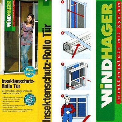Insektenschutz Fliegengitter Rollo Tür 160x225cm Braun Klemmrollo Gitter 03805