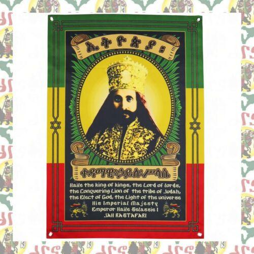 Haile Selassie I  [drs] Flag Banner Tapestry (97cmx69cm ) Ethiopia Reggae Rasta