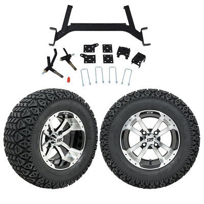 "GTW 5"" EZGO TXT Golf Cart Lift Kit With A/T Tires and 12"" Wheels Fits 2001.5-Up"