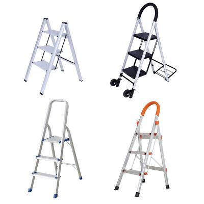 Vilobos 3 Step Ladder Aluminum Folding Heavy Duty Non-slip Platform Stool 330lbs
