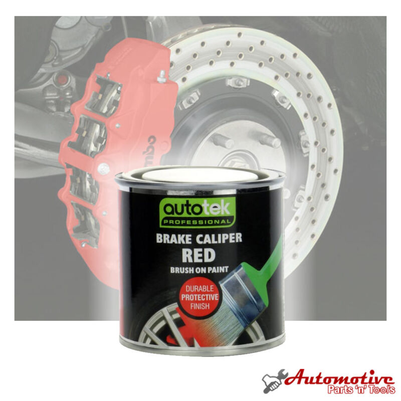 Pro Red Caliper & Brake Drum High Gloss Professional Finish Quick Dying Paint