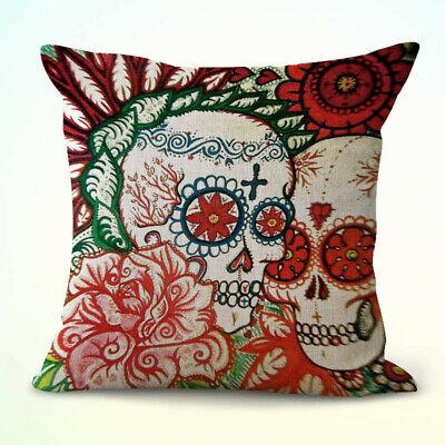 Dia De Los Muertos Items (US Seller- home decor items Mexico Dia de los Muertos sugar skull cushion)