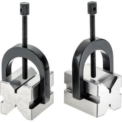 Grizzly H5608 V-block Pair W Clamps 1-58
