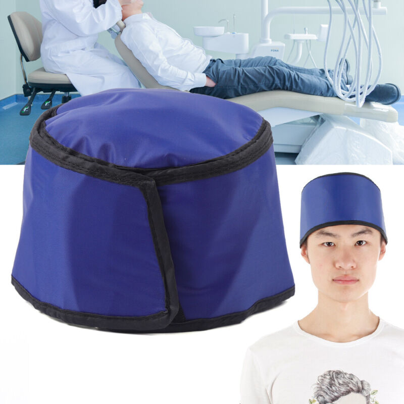 X-ray Inspection Radiation Protection Clothing Lead Rubber Head Shield Hat Blue