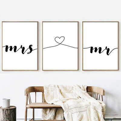 LOVE Letter Art Poster Abstract Wall Art Canvas Print Gift Couple Room (Love Letter Art)