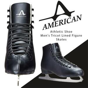 NEW American Athletic Shoe Mens Tricot Lined Figure Skates, Black, 9 Condtion: New, 9
