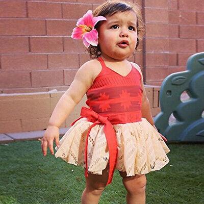 Princess Moana Costume Girls Baby Dress Cosplay Party Birthday Dresses ZG8 (Infant Princess Costumes)