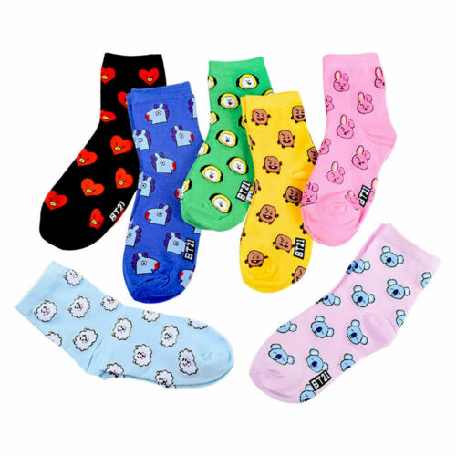 BTS BT21 Bangtan Boys Character X Line Friends Women Socks