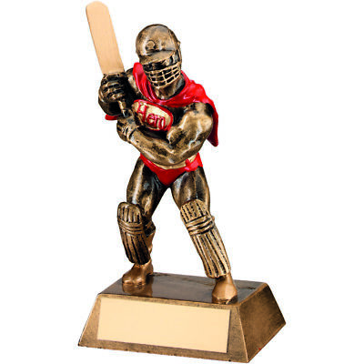 Cricket Super Hero Cape Award Fun Novelty Gifts Sport Trophy - FREE Engraving