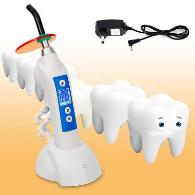 Dentist Dental Led Curing Light Lamp Wireless Cordless Resin Cure 5w 1800mw Usa