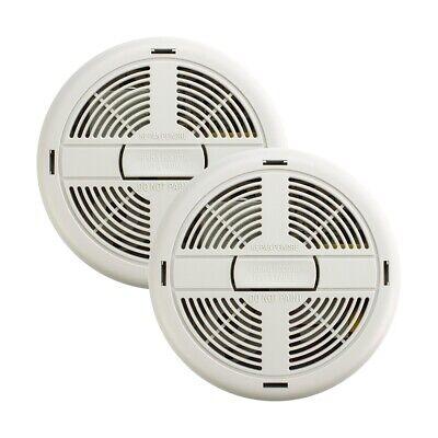 2x Mains Power Ionisation Smoke Alarm & 9V Battery BRK 670MBX, DETA 1111, 86RACE