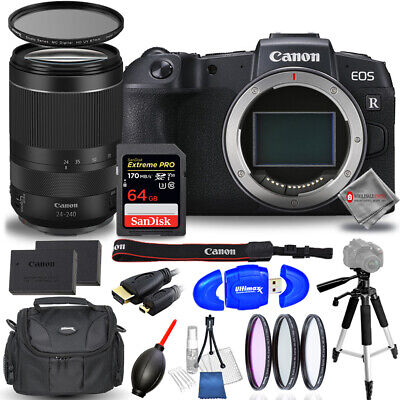 Canon EOS RP Mirrorless Digital Camera with 24-240mm Bundle - AUTHORIZED DEALER